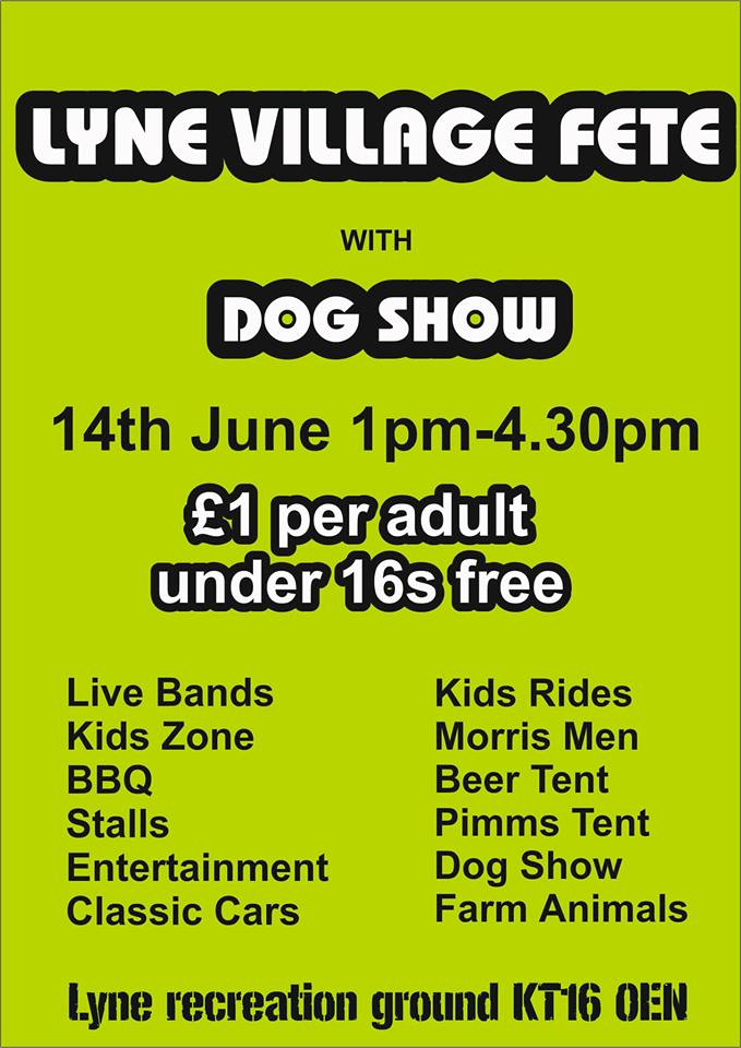 Lyne Village Fete 14th June 2014