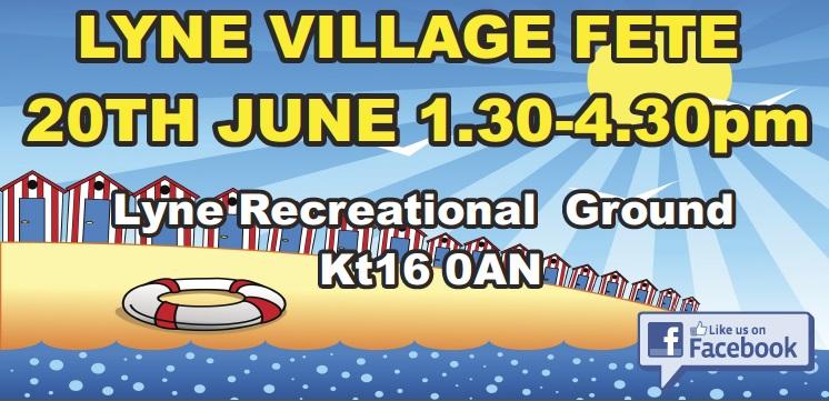 Lyne Village Fete 2015 Poster