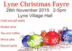 Lyne Village Hall Chritmas Fayre 2015